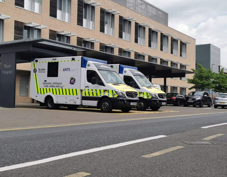 A paediatric and neonatal retrieval ambulance