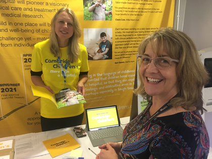 Annalise Lister (left) with music therapist Dawn Loombe