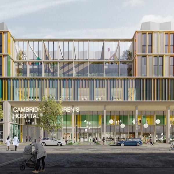 Artist's impression of new Cambridge Children's Hospital