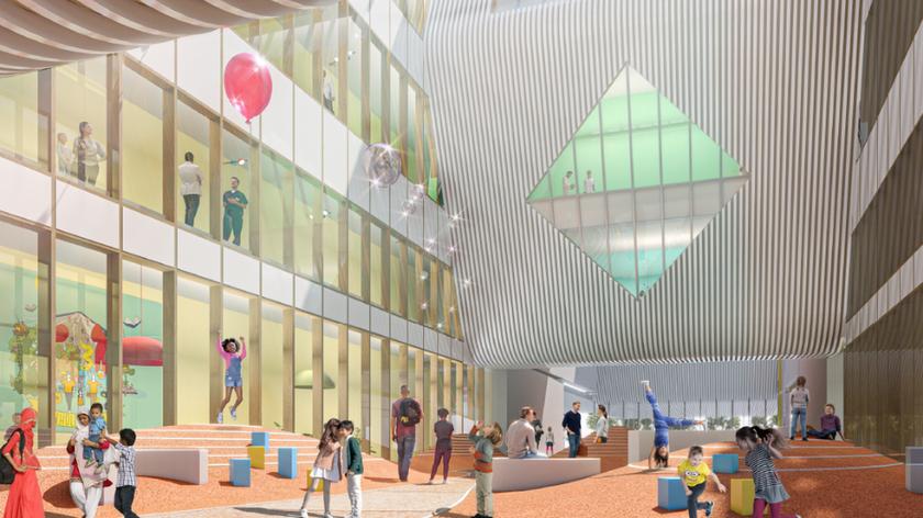 Cambridge Children's Hospital - interior architect's picture