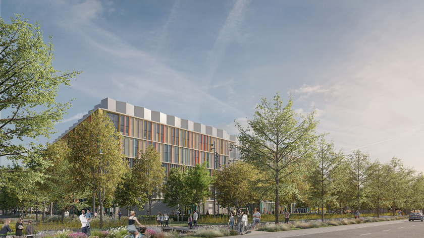 Cambridge Children's Hospital architect picture - side of building - October 2021