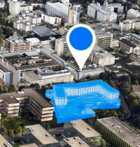 A graphic showing where Cambridge Children's Hospital will be located