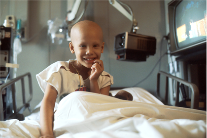 A child living abroad recovering from chemotherapy
