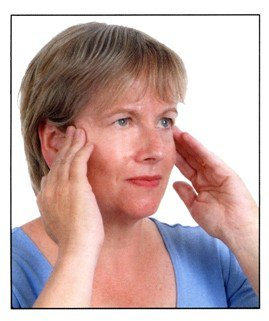 Checking your lymph nodes in front of the ear