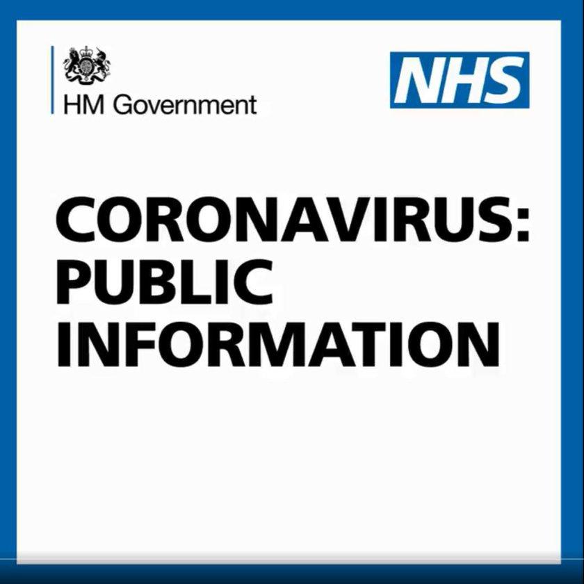 HM Government: NHS: Coronavirus public information