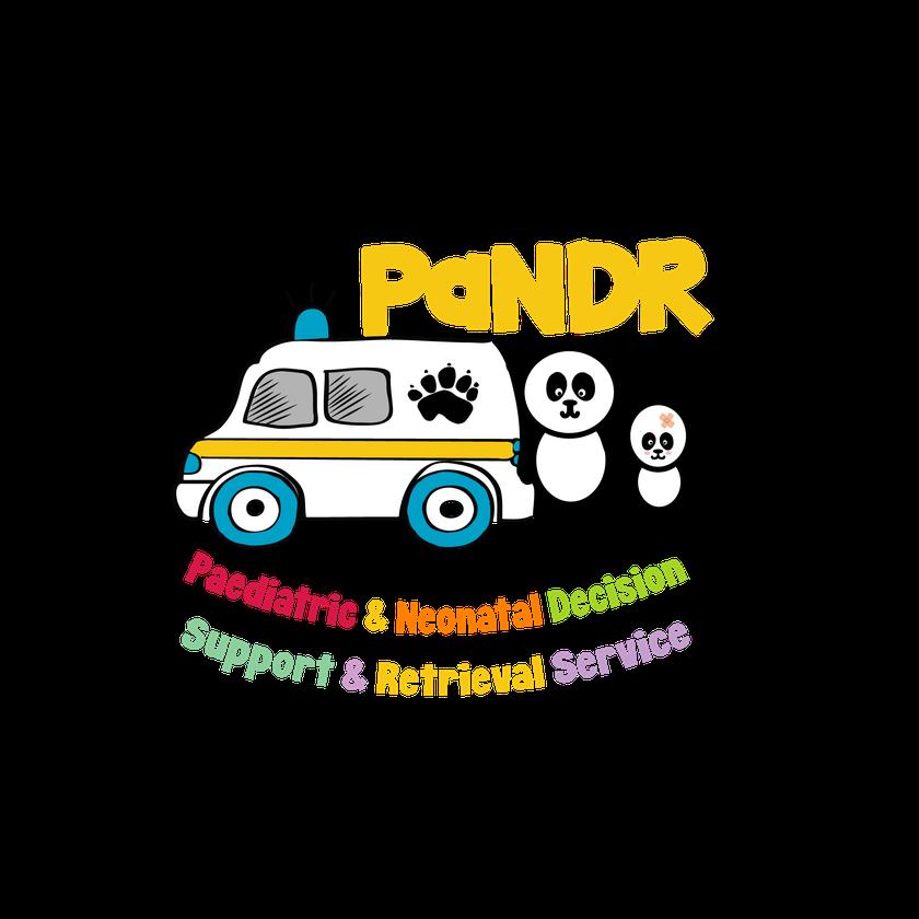 PaNDR logo - two pandas with an ambulance