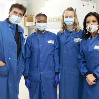 Jean-Christophe Novelli and his wife Michelle visit East GLH