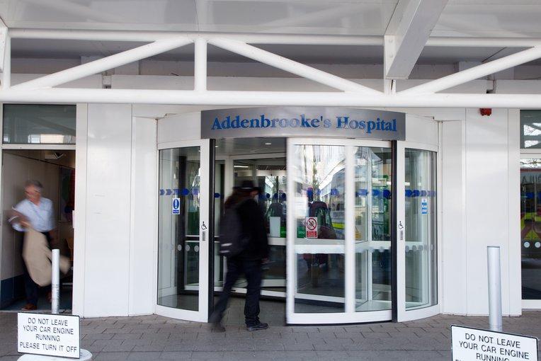 Addenbrooke's hospital front entrance