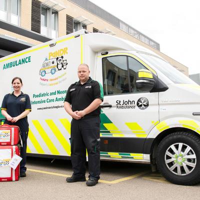 PaNDR team and ambulance