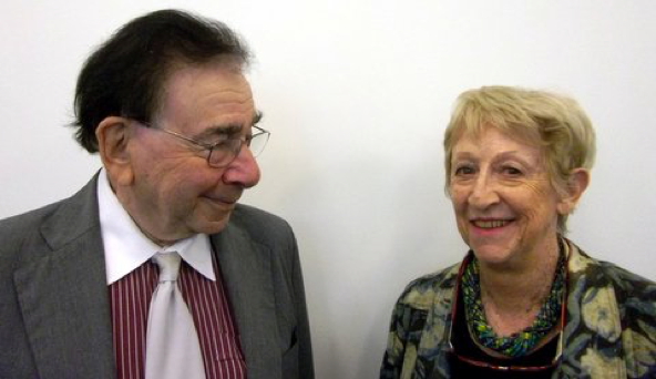 Professor Sir Roy Calne with his patient Angela Dunn