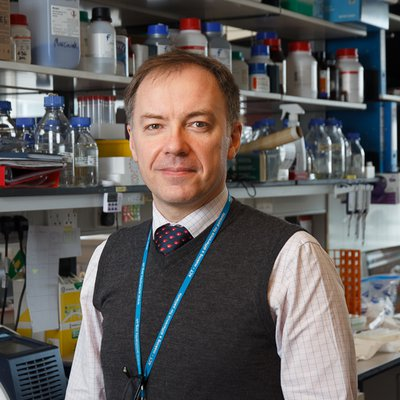 Professor Stefan Marciniak in his lab