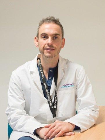 Stephen Harbottle in lab coat