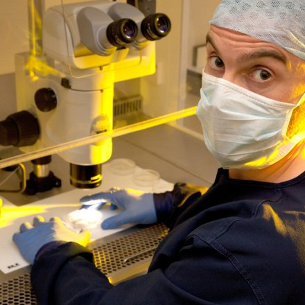 Stephen Harbottle in the lab