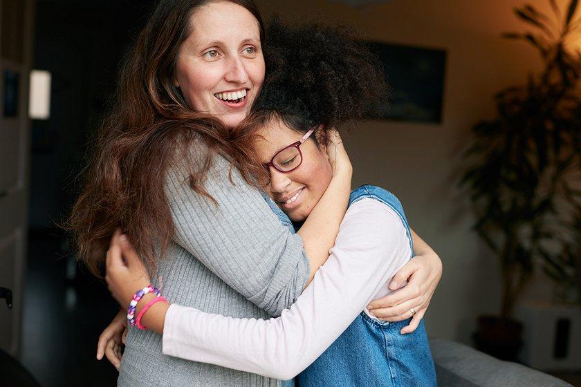 Zofeya hugging her mum