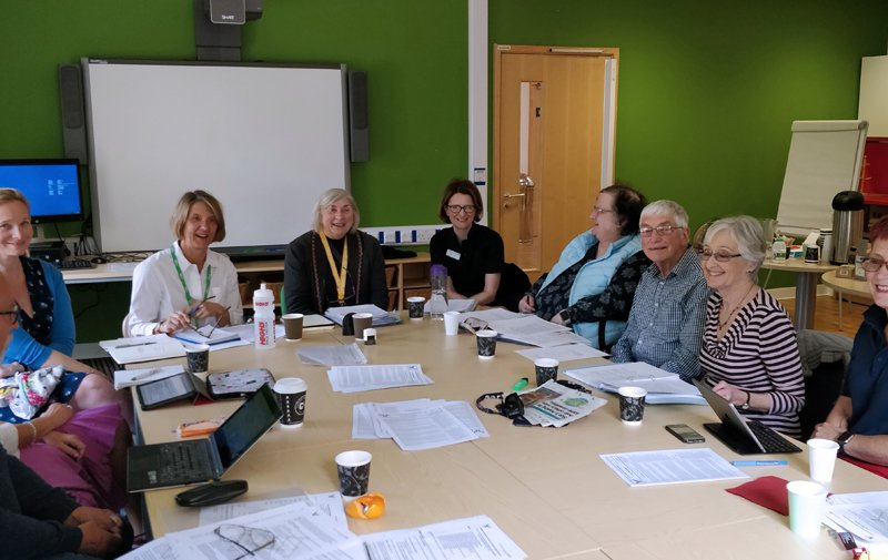 Cancer patients participation group meeting in progress