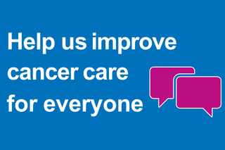 Cancer survey poster - Help us improve cancer care for everyone