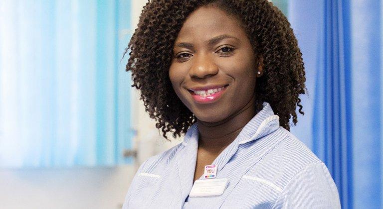 Nurse in uniform
