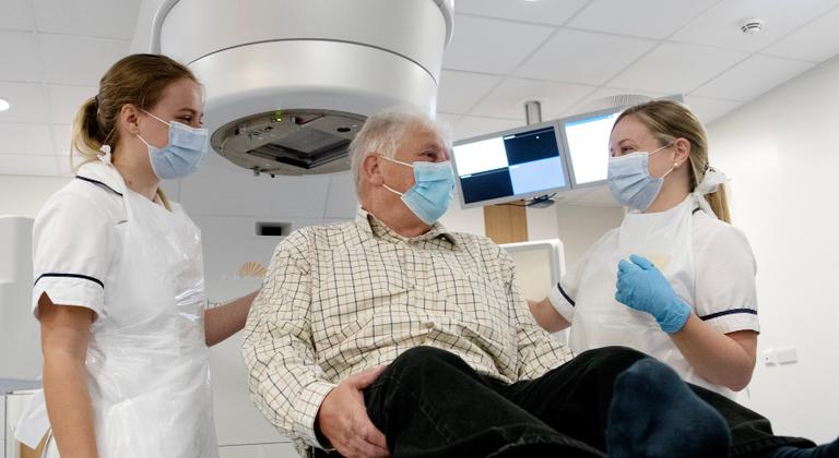 Patient receiving radiotherapy