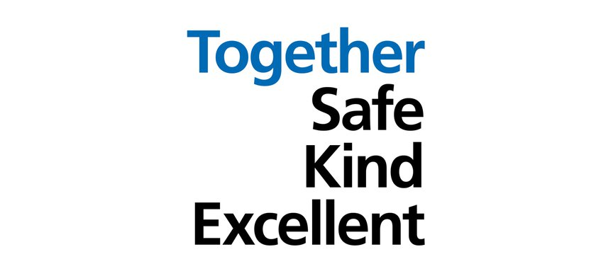 The Together - Safe, Kind, Excellent logo stack